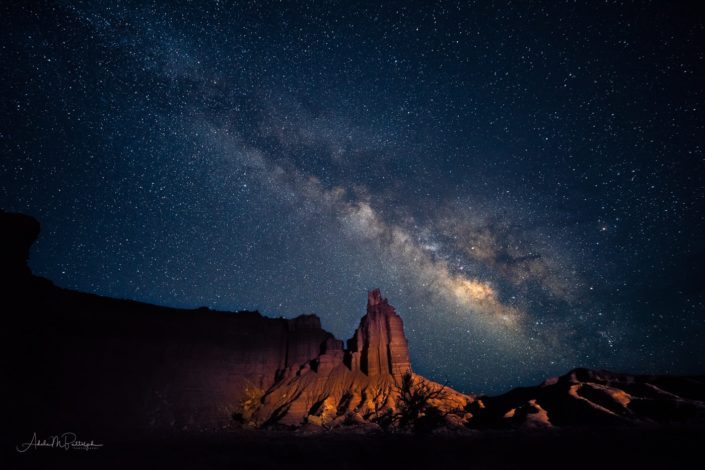 Milky Way over Chimney Rock, Capitol Reef National Park, Utah