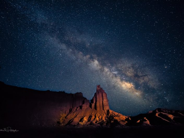 Milky Way over Chimney Rock, Capitol Reef National Park, Utah