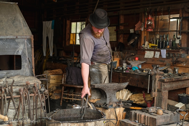 Blacksmith at Barkerville Historic Town