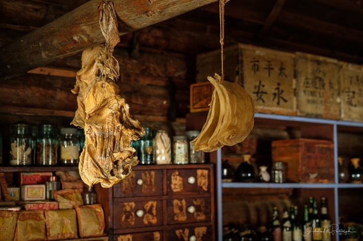 Chinese medicine display in Barkerville